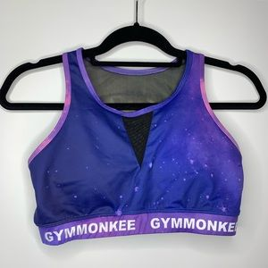 GYMMONKEE Galaxy print sports bra